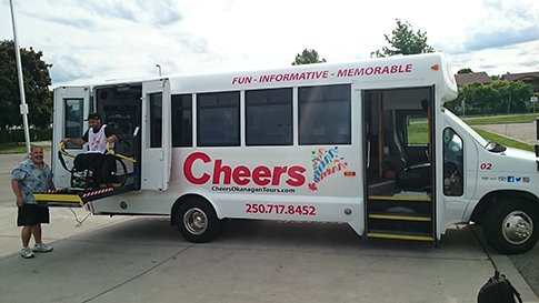 Wheel Chair Accessible Transportation | Kelowna Wine, Boat & Canyon Tours | Cheers! Okanagan