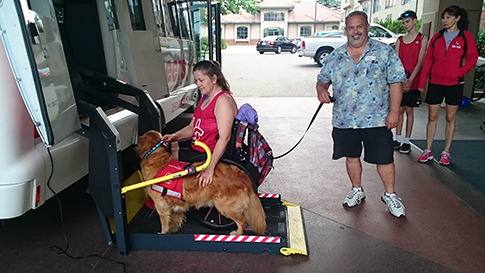 Service Dog | Wheel Chair Accessible Vehicles | Kelowna Wine, Boat, & Canyon Tours | Cheers! Okanagan