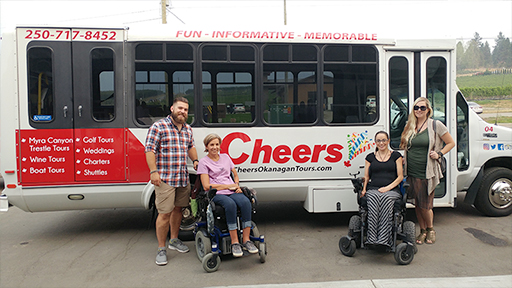 Accessible Transport Bus Group | Kelowna Wine, Boat, & Canyon Tours | Cheers! Okanagan
