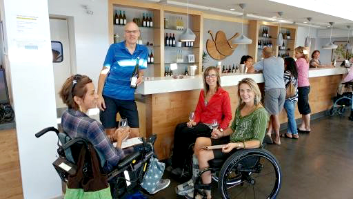 Wheel Chair Guests On Tour | Kelowna Wine, Boat, & Canyon Tours | Cheers! Okanagan